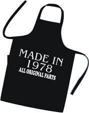 Idée cadeau d'anniversaire cuisiniers tablier faite en 1978, toutes les pièces d'origine excellent cadeau