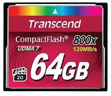 TRANSCEND COMPACT FLASH 800X UDMA 7 CF 64GB 64G 64 G GB LIFE TIME WARRANTY