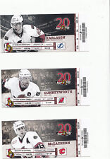 OTTAWA SENATORS VS CALGARY FLAMES FULL TICKET STUB 12/30/11 ERIK KARLSSON GOAL