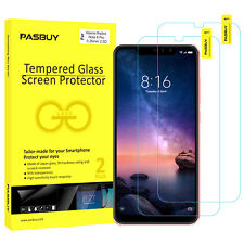 PASBUY 2Pack Premium Tempered Glass Screen Protect for Xiaomi Redmi Note 6 Pro