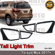 Black Tail Light Cover Protector Trim to suit Isuzu Mux MU-X 2017+