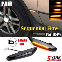 For BMW E46 Dynamic Flowing Smoke LED Side Marker signal Light Turn Indicator 2X
