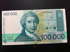 CROATIA BANKNOTES- 100000 DINARA 1993+ GRATIS 3 BANKNOTES CROATIA !!!