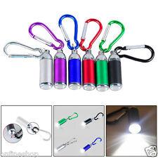1W Mini Pocket LED Flashlight Light Lamp Telescopic Zoom Light Carry Carabiner