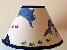 Shark Bite Fabric  Lamp Shade M2M Pottery Barn Kids Bedding