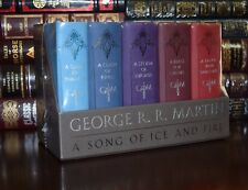 Game of Thrones by George Martin Sealed Leather Cloth Song Ice Fire Box Set