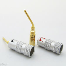 100pcs Nakamichi Aluminum Sleeve Gold Plated 2mm Banana Plug Terminal Connector