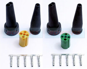 ASPOCK GREEN & YELLOW 5 PIN REAR LIGHT CONNECTOR PLUG FOR IFOR WILLIAMS TRAILERS
