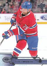 16/17 UPPER DECK BASE #100 ANDREI MARKOV CANADIENS *26817