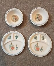 Eden Peter Rabbit And Friends F. Warne & Co. 2 Bowls 2 Dinner Dishes Set