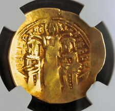 1295, Byzantine Empire, Andronicus II & Michael IX. Gold Hyperpyron. NGC Ch. VF!
