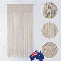 AU! Window Door Curtain Macrame Boho Wall Hanging Tapestry Wedding Party Decor