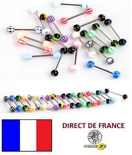 Lot de 20 piercings langue revendeur marché brocante bijoux FRANCE