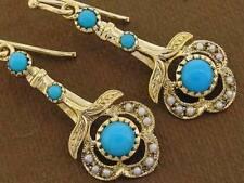Turquoise Drop/Dangle Natural Fine Earrings