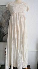 Free People Cream  Dress maxi Boho 12/14 size med  bnwt