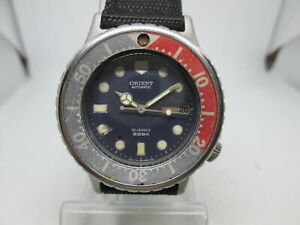 VINTAGE ORIENT 200m DAYDATE STAINLESS STEEL AUTOMATIC MENS DIVER WATCH