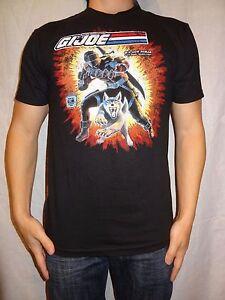 G.I. Joe Real American Hero Snake Eyes Black, Cotton T-shirt Size Small