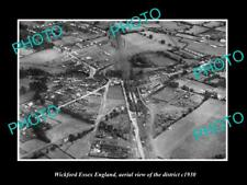 OLD LARGE HISTORIC PHOTO OF WICKFORD ESSEX ENGLAND, DISTRICT AERIAL VIEW c1930
