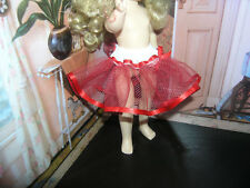 "Red Nylon Net Slip Petticoat Crinoline 14"" Doll clothes fits Ideal Toni P-90"