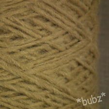 ALPACA WOOL YARN ARAN / DK 500g CONE 10 BALLS CAMEL BROWN BEIGE DOUBLE KNITTING