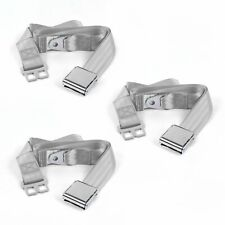 Early Cars 1928 - 1932 Airplane 2pt Gray/Grey Lap Bench Seatbelt Kit - 3