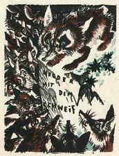 Der FUCHS als POLITIKER - Ludwig Heinrich JUNGNICKEL - OrigFarbLithographie