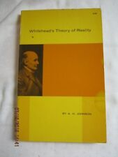 Whitehead's Theory of Reality by A.H. Johnson (1962) Dover Publications