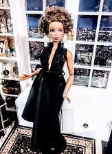 OOAK Curvy Barbie size Chic Liquid look cascading evening gown ensemble! LAST1 !