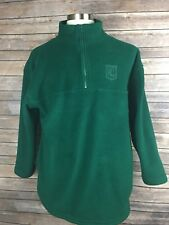 Vintage Ralph Lauren Womens M 1/4 Zip Green Embroidered Polyester Sweater X24