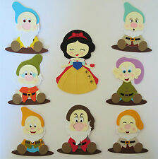 Snow White and Seven Dwarfs Paper Die Cut Scrapbook Embellishments