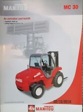 MANITOU MC 30  POWERSHIFT FORKLIFT  BROCHURE CATALOG FACTORY ORIGINAL OEM