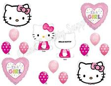 HELLO KITTY GIRL BABY SHOWER Balloons Decoration Supplies It's A Heart Pink