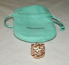 Tiffany & Co. Paloma Picasso 18k Solid Rose Gold Olive Leaf Band Ring - Size 6.5