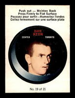 1968-69 O-Pee-Chee Puck Sticker #19 Dave Keon EXMT X1032678