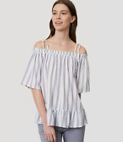 NWT Ann Taylor Loft Striped Off The Shoulder Top. Large
