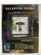 2 Delerium Karma Poster Front Line Assembly Promo