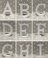 White Wooden Letters Free Standing 8cm Tall 1.2cm Thick Words Names Decorative