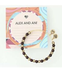 New ALEX AND ANI Snowbell Mulberry Bead Bangle Bracelet Retired NWT&MC