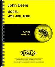 John Deere 420 Tractor 430 Tractor 430C Crawler Parts Manual (JD-P-PC505)