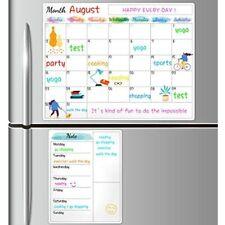 Dry Erase Fridge Magnetic Calendar White Board For Refrigerator Wall Home List