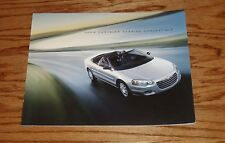Original 2004 Chrysler Sebring Convertible Sales Brochure 04