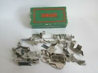 JOB LOT SINGER SEWING MACHINE PARTS WITH SINGER BOX