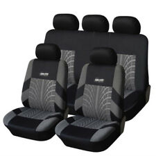 Universal Embroidery Full Autos Car Seat Covers Set Seat Protector Tire Track