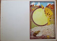 Frog & Pierrot Clown - Art Deco 1940s Printer's File Sample Menu/Program Cover
