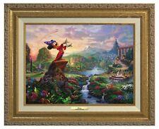 Thomas Kinkade -Disney's Fantasia – Canvas Classic (Gold Frame)