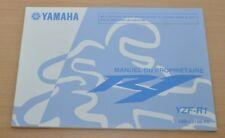 YAMAHA R1 YZF-R1 R 1 Manual du Proprietaire Bedienungsanleitung 2008 Motor