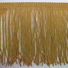 """6"""" old gold chainette  Fringe Lampshade Costume Trim by the Yard,dance dress"""