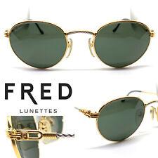 FRED OURAGAN [G-15 Lenses]  Eyeglasses Sunglasses Gold Vintage Lunettes