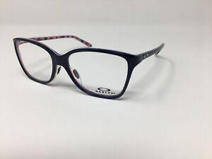 Oakley Womens Eyeglass Frames OX1126-0554 Finesse Blue/Magenta Stripes Flex B50