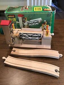 SCARCE~1990s Brio Lifting Draw Bridge Train Track  #33357 NIB Osby Sweden Wood